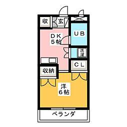 園山ハウス[3階]の間取り