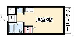 三松ハイツ[402号室]の間取り