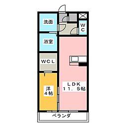 ウヴェルテュール[2階]の間取り