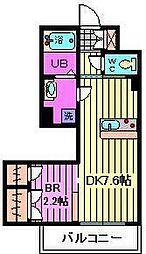 ティアレ川口[2階]の間取り