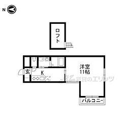 阪急京都本線 烏丸駅 徒歩9分の賃貸マンション 3階1Kの間取り