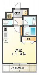GNOME KUNITACHI[2階]の間取り