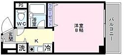 シャルル泉大津[4階]の間取り