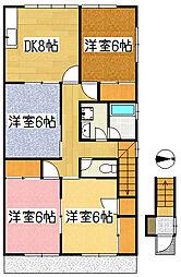 秋山アパート2F2階Fの間取り画像
