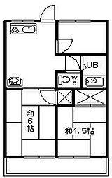第2コーポレーション川島[203号室]の間取り