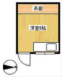 クラッカン[2階]の間取り