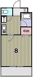カーサ花園[102号室]の間取り