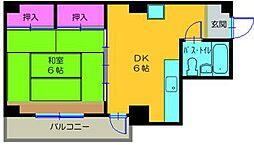 シーサイドマンション[4階]の間取り
