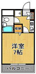 ライオンズマンション大正[7階]の間取り