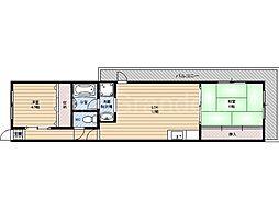 奥村第2マンション[1階]の間取り