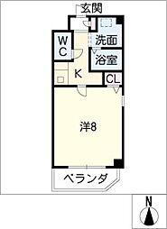 ストゥーディオK[2階]の間取り