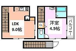 東京都荒川区東尾久5丁目の賃貸アパートの間取り