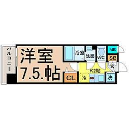 プレサンス名古屋STATIONディーヴァ[3階]の間取り