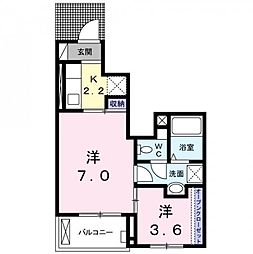 鷲宮5丁目アパート[1階]の間取り
