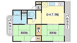 [テラスハウス] 兵庫県たつの市龍野町日山103丁目 の賃貸【/】の間取り