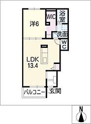 エルムハウス II[1階]の間取り