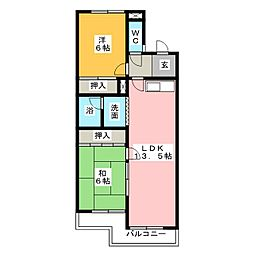 サークルコープ[2階]の間取り