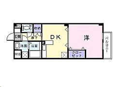 広島県福山市神辺町字十九軒屋の賃貸アパートの間取り
