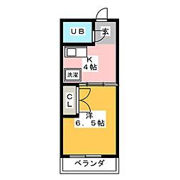 聖城ビル[8階]の間取り