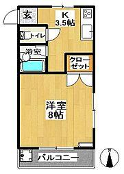 ハイツ華山[304号室]の間取り