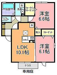 仮)D−room寄井 F[105号室]の間取り