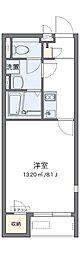 JR阪和線 和泉府中駅 バス9分 我孫子下車 徒歩14分の賃貸アパート 1階1Kの間取り