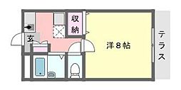 千葉県習志野市谷津5丁目の賃貸アパートの間取り