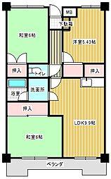 平和マンション[4階]の間取り