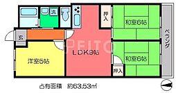 第2くめマンション[1階]の間取り