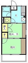 シティハイム藍[2階]の間取り