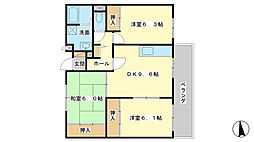 サニーガーデン広畑[4階]の間取り