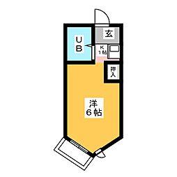 エクセランス国府宮[4階]の間取り