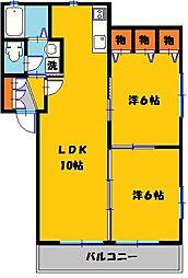 サンハイツ紫陽花館[2階]の間取り