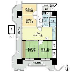 ライオンズマンション金剛院第2[7階]の間取り