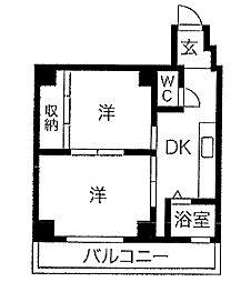 エルパラッツォ新神戸[3階]の間取り