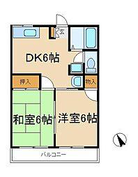 シティハイムトクラ[2階]の間取り