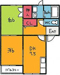 第35アオイビル[1階]の間取り