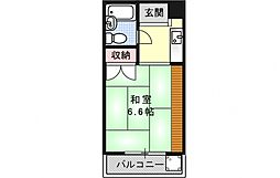ハイツ中ノ川[301号室号室]の間取り