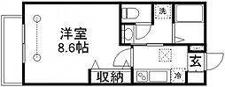 MAPLE HOUSE (メープルハウス)[103号室]の間取り