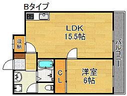 DAIKOマンション[6階]の間取り