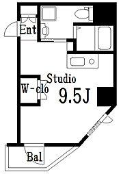 ラ・トルチュ亀戸 6階ワンルームの間取り