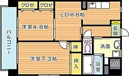 シェアンジュ21[4階]の間取り