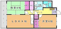 ルネッサンス宮ノ尾I[2階]の間取り