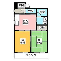 橘屋ビルA.M.D.E[5階]の間取り