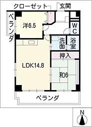 ベルコリンマンション[2階]の間取り