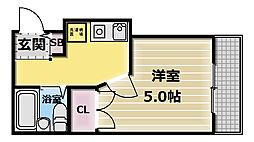 ガーデン346[3階]の間取り