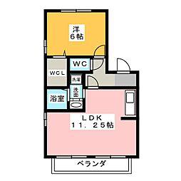 アリエルII A棟[2階]の間取り