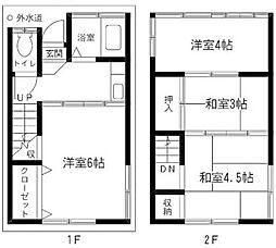 [一戸建] 東京都葛飾区東新小岩6丁目 の賃貸【/】の間取り