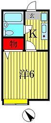 サンポップ新松戸[1階]の間取り