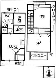 [テラスハウス] 愛知県一宮市丹陽町伝法寺 の賃貸【/】の間取り